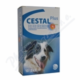 Cestal plus flavour 50mg-144-200mg tbl. 10 pro psy