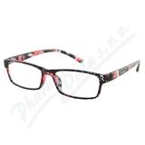 Brýle čtecí +2. 50 černo-květinové
