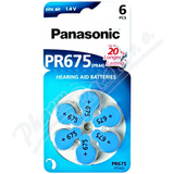 Panasonic PR675(PR44) baterie do naslouchadel 6ks