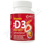 Vitamín D3 400IU pro děti - jahoda tbl.30