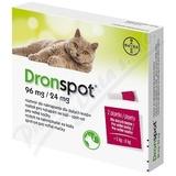 Dronspot 96mg-24mg velké kočky spot-on 2x1. 12ml