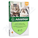 Advantage 40mg malé kočky+králíci spot-on 1x0. 4ml
