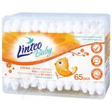 Vatové tyčinky LINTEO BABY - bílé 65ks box