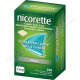 Nicorette Classic Gum 2 mg léèivá žvýkací guma 105