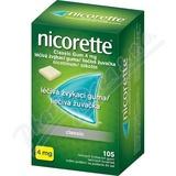 Nicorette Classic Gum 4 mg léèivá žvýkací guma 105
