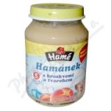Hamánek kojenecká výživa s broskv. a tvarohem 190g
