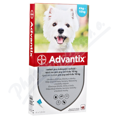 Advantix pro psy 4-10kg spot-on a.u.v.1x1ml