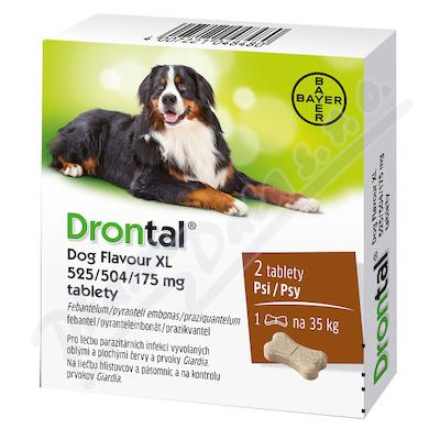 Drontal Dog Flavour XL 525-504-175mg psy tbl.2